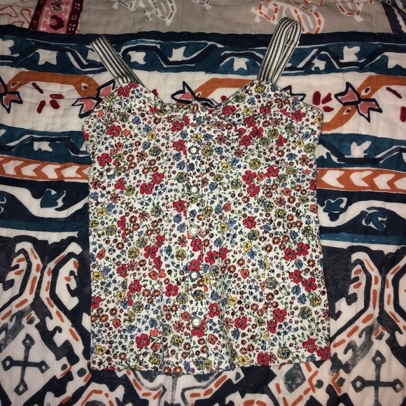 Anthropologie Tops - Anthropologie Floral Tank 9-H15 STCL